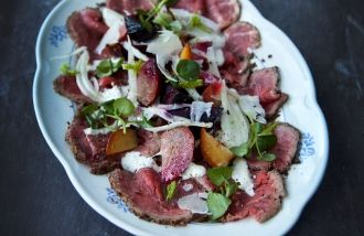 Beef Carpaccio with Beetroot & Fennel