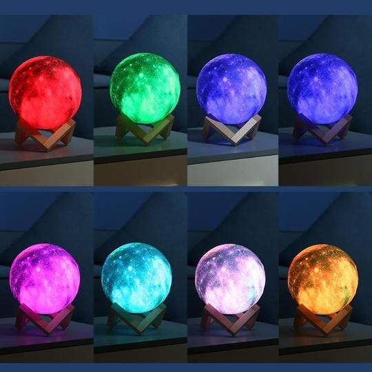 Star Galaxy 3d Moon Lamp In 2020 Led Night Light Night Light 3d Printing