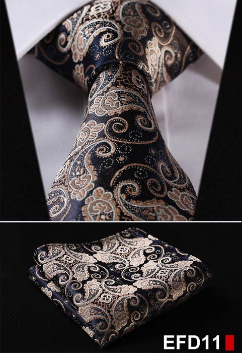 Brand Name: HISDERN Material: Silk Size: One Size Ties Type: Neck Tie Set Style: Fashion Gender: Men Pattern Type: Floral Department Name: Adult Item Type: Ties is_customized: Yes Place of Origin: Gua:
