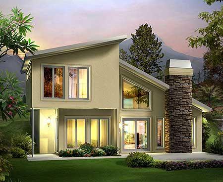Plan 57264HA Earth Sheltered Berm Home Plan 2nd Floor House Plans
