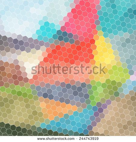 bright multicolored abstract pattern of polygons - stock vector