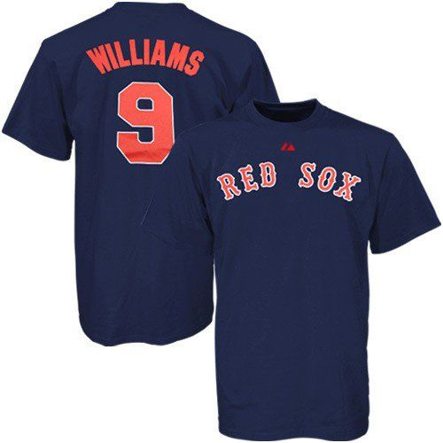 Ted williams red sox mlb prostyle player t shirt shirt Red sox player t shirts
