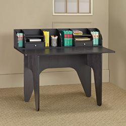 Vio Black Office Desk/ Mini Hutch