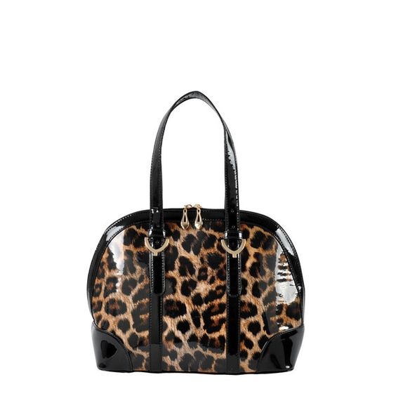 The fierce Kim Leopard Dome Satchel is the ultimate compliment-inducing style!