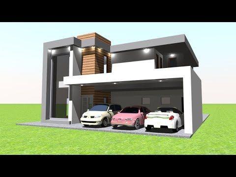Modern Villa Front Elevation Design Modeling With Sweet Home 3d