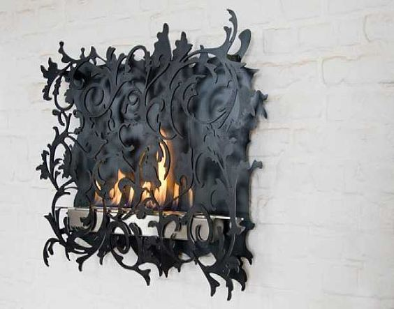 Unique Wall Mount Fireplace.
