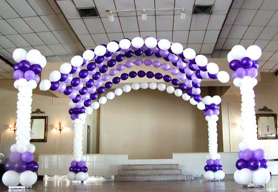 Quinceanera balloon decor your home for custom balloon for Balloon decoration ideas for quinceaneras