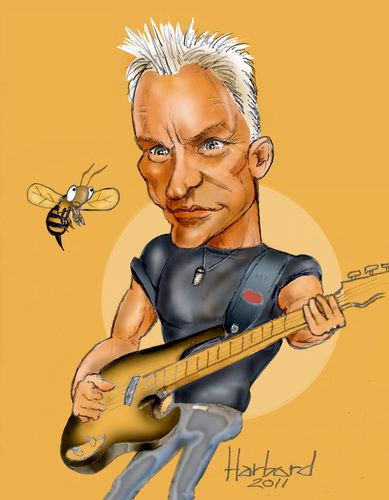 Cartoon: Sting caricature (medium) by Harbord tagged sting,bass,plaer,famous,police,singer