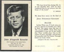 Vintage President John F. Kennedy Funeral Catholic Mass Prayer ...