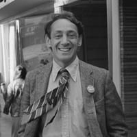 """The first openly gay elected official in the United States, Harvey Milk put the dream of equal rights for the lgbt community within reach. He and George Moscone, mayor of San Francisco, were assassinated in 1978. Sean Penn starred in the movie """"Milk,"""" which documented Harvey's place in our history. www.LoveBetweenMe...:"""