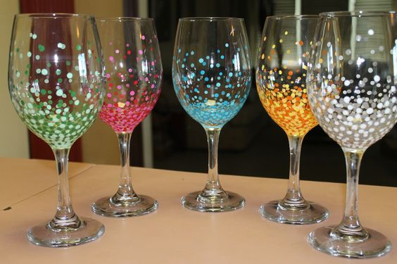 These are my hand painted wine glasses to check out more Wine glasses to go