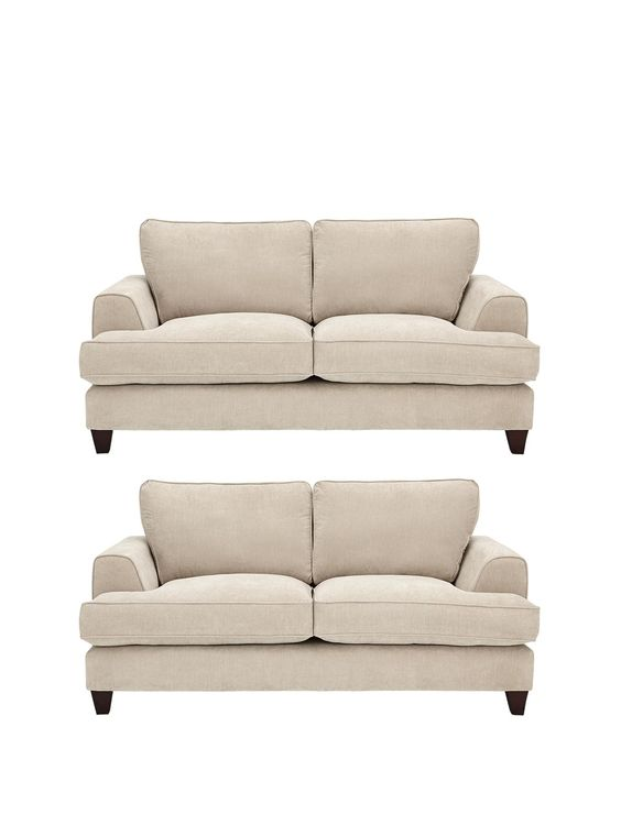 Camden 2-Seater + 2-Seater Fabric Sofa Set (Buy and SAVE!)   very.co.uk