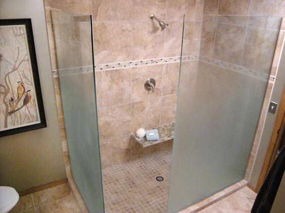 Frosted shower doors diynetwork diy bathrooms pinterest showers shower doors and doors - Frosted doors for bathroom ...