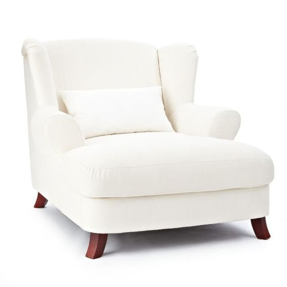 Ohrensessel, 1,5 Sitzer, Bezug Baumwollmischgewebe Vorderansicht