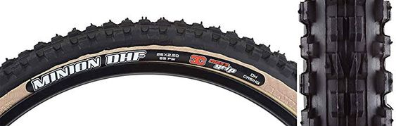 Maxxis Minion Dhf Downhill Tire 26 X 2 5 Triple Compound Skinwall 2 Ply Black Review Minions Downhill Rolling Resistance