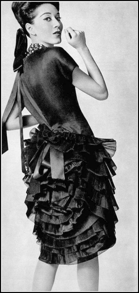 Cocktail dress by Yves Saint Laurent, 1962