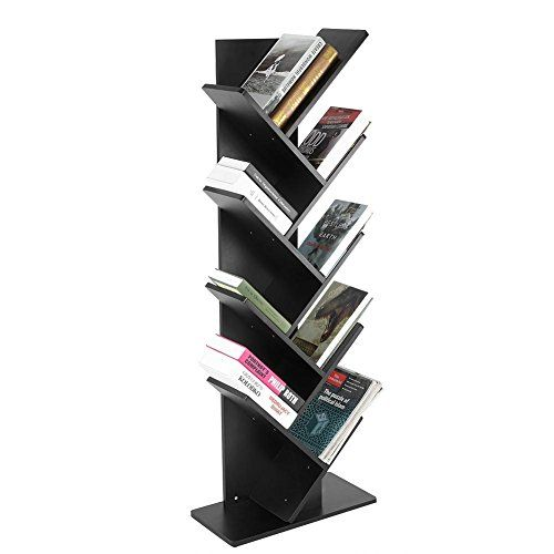 zerone tree bookshelf modern 9 tier