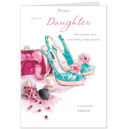 Lucy Cromwell Daughter Shoes Design Birthday CardHallmark UK – Hallmark Personalised Birthday Cards