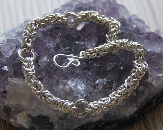 Silberarmbänder - 925 Sterling Silber Byzantine-Moebius Armband - ein…