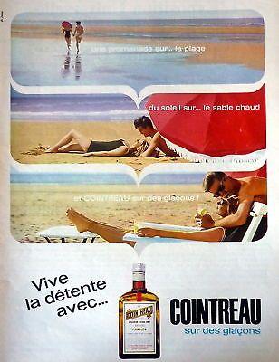 1964 Cointreau Liqueur Plage Publicité ADS Vintage | eBay