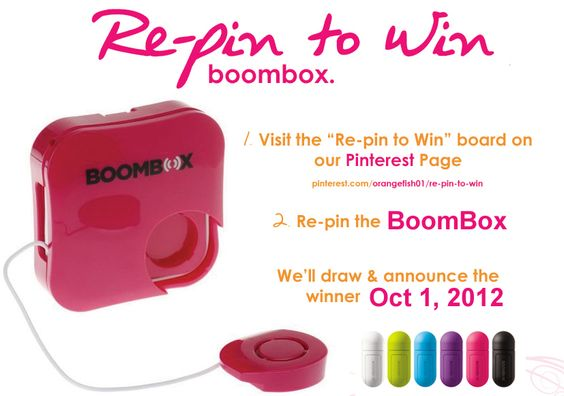 RE-PIN TO WIN Re-Pin the BoomBox and you can win one. Makes a great stocking stuffer for the holiday season!  And you are able to play your tunes out loud anywhere anytime! Choose from 8 different colours! $34.99