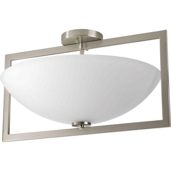 Progress Lighting Harmony Collection 3-Light Brushed Nickel Semi-Flush Mount Light