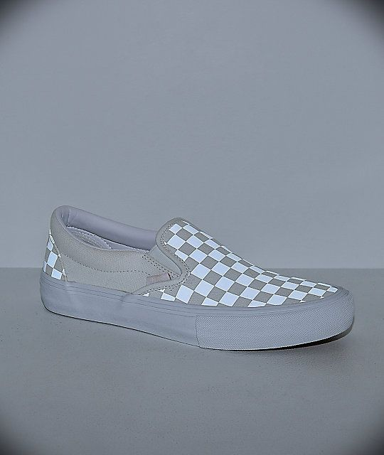 Vans Slip On Pro Reflect White Skate Shoes With Images Women