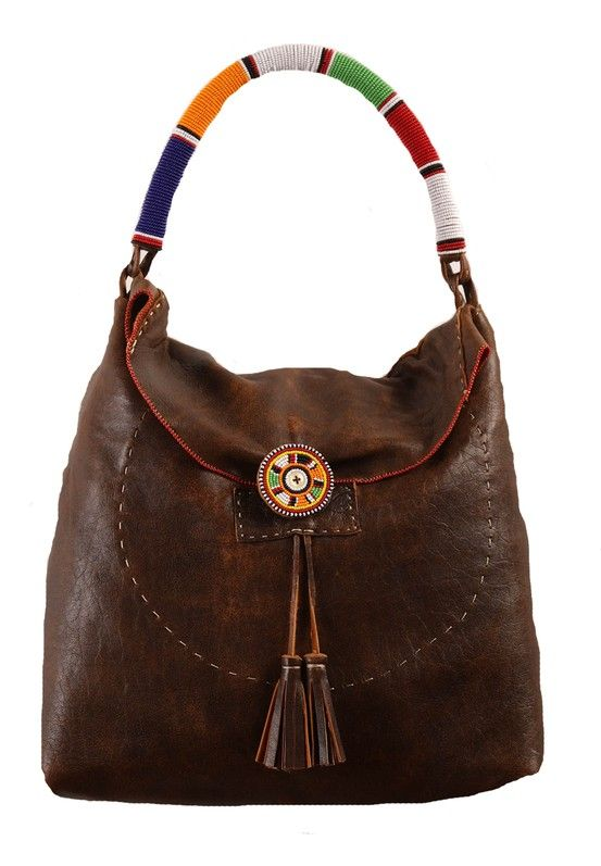Floppy Bag with Maasai Beading. We Deliver Worldwide ...