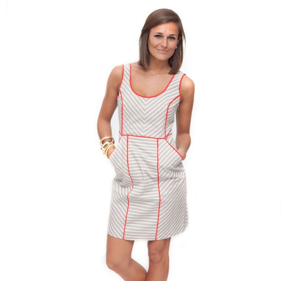 Khaki Stripe Dress