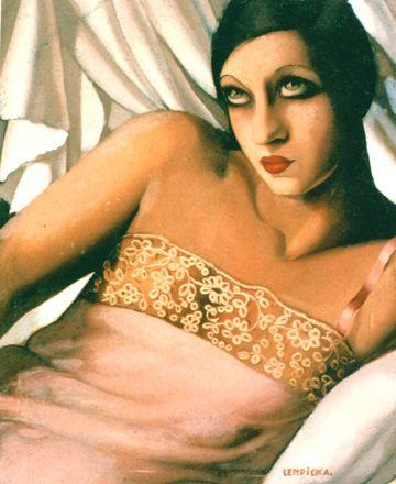The Pink Shirt, 1927-Tamara de Lempicka - by style - Art Deco