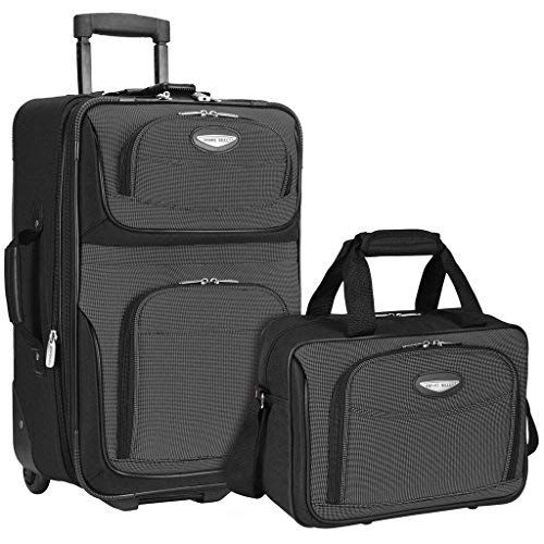 Travelers Choice Travel Select Amsterdam Two Piece Carry On Luggage Set Carry On Luggage Luggage Luggage Sets