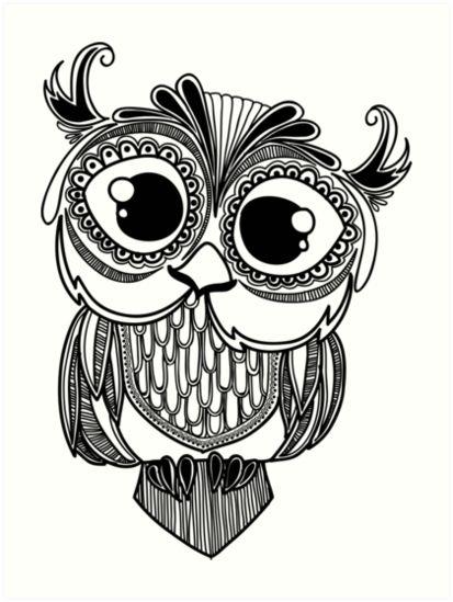 Coloriage mandala hibou dessin pinterest mandalas - Dessin de hibou ...