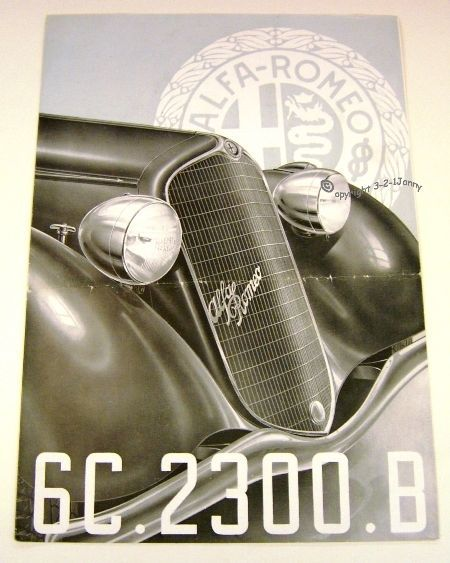 Alfa Romeo 6C 2300 Corto short saloon - Prospekt