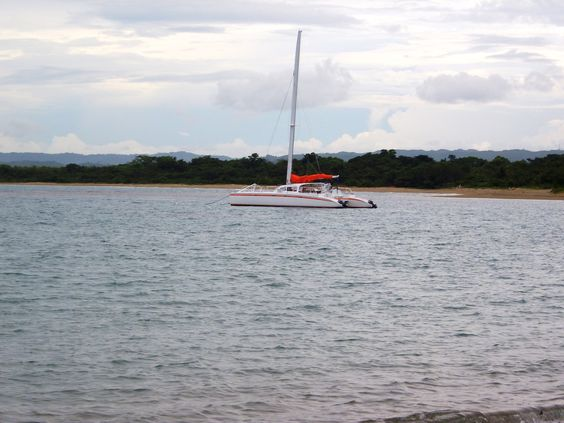 Catamaran Sailboat.   Playa Dorada, Puerto Plata.  August, 2011.