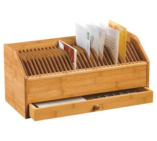 Lipper International Bamboo Monthly Bill Invoice Organizer with - check invoice