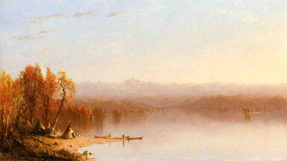 Indian Summer, huile sur toile de Sanford Robinson Gifford (1823-1880, United States)