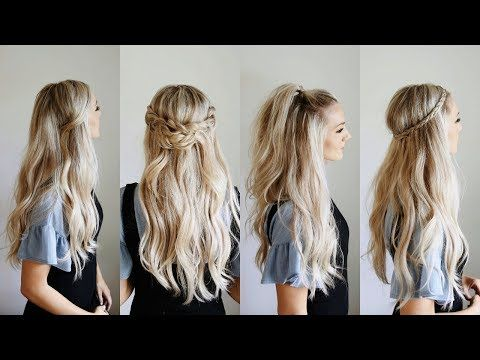Looking For Simple Yet Stylish Looks For Days You Re Running Late This Collection Of Easy Half Up Half Down Hairs Down Hairstyles Long Hair Styles Hair Styles