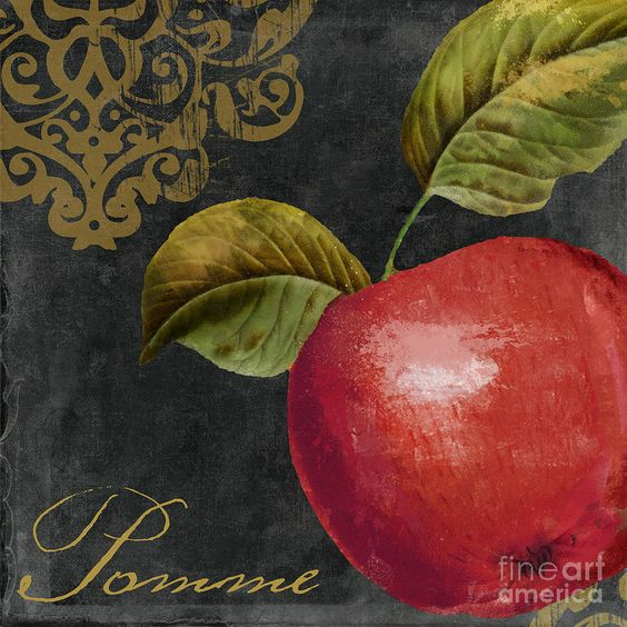 Apple Painting - Melange Apple Pomme by Mindy Sommers