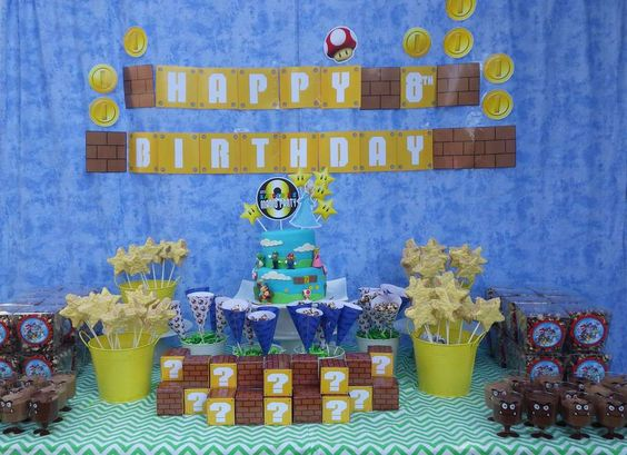 Super Mario Party Birthday Party Ideas | Photo 1 of 33