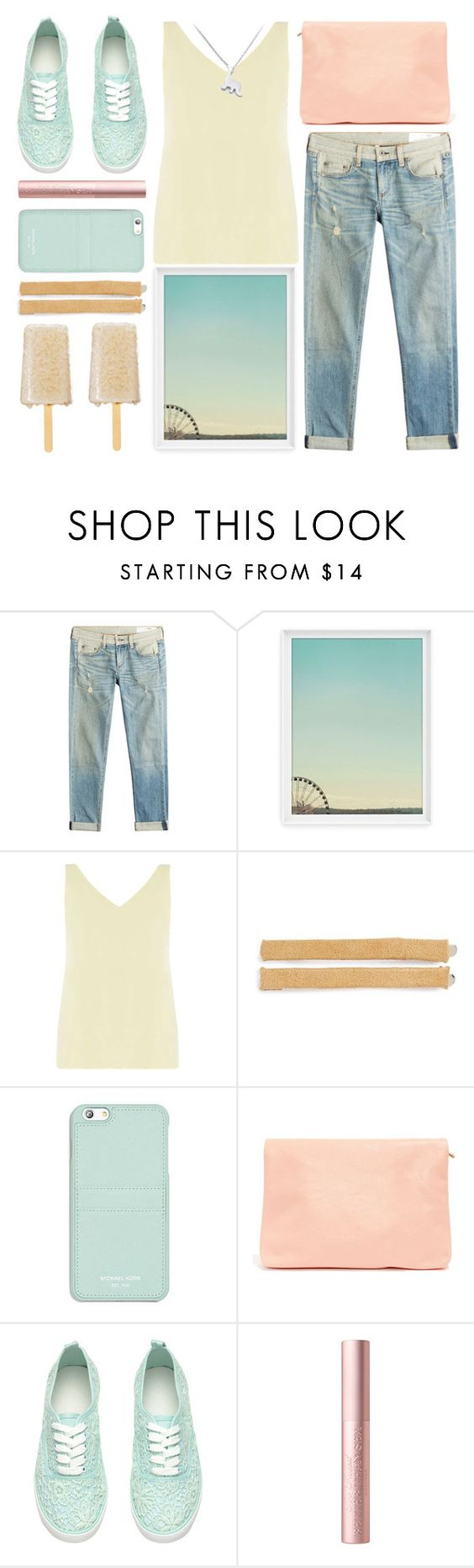 """yummy popsicle"" by foundlostme ❤ liked on Polyvore featuring rag & bone, Dorothy Perkins, Tasha, Michael Kors, statefair and summerdate"