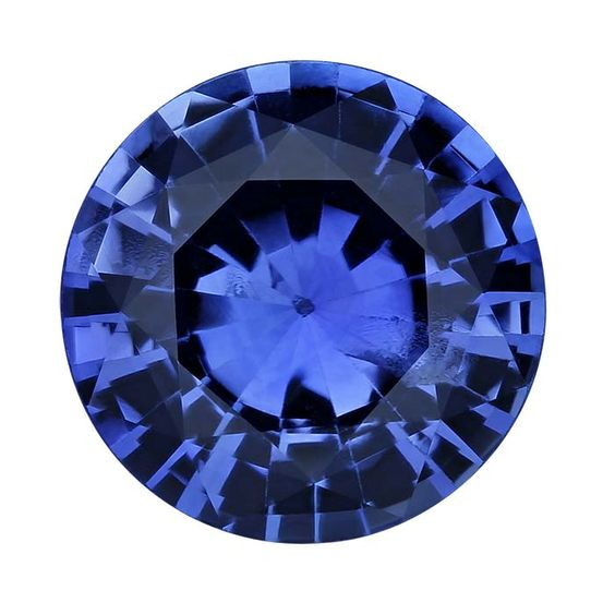 Round 6mm Blue Sapphire Faceted Stone, AAA-Grade  Sapphire gets its blue color from titanium and iron oxides; the depth of color depends on the amount of oxides in the stone. Sapphire is the birthstone for September.