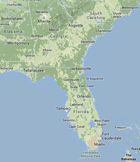 All Florida RV Parks and Camping Map