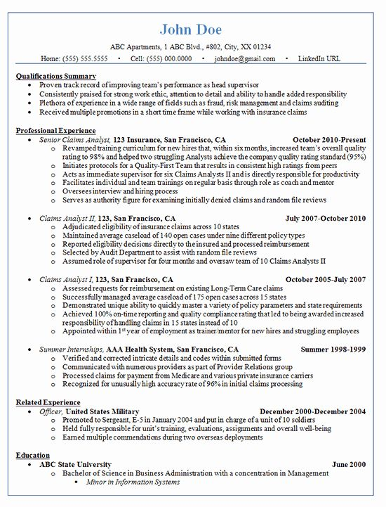 Health Care Business Analyst Resume New Claims Analyst Resume Example Insurance And Finance