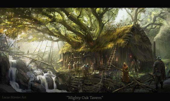 Mighty Oak Tavern by AlcoholicHamster.deviantart.com on @DeviantArt