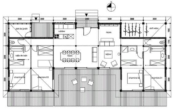 Jennifer Langlais (jennilanglais) on Pinterest - plan de maison de 100m2 plein pied