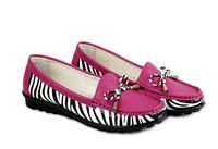 Factory direct sales fall 2014 new summer elegant printing hit color leopard leisure bean shoes comfortable ladies shoes