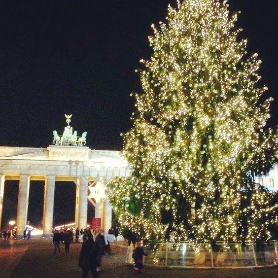 Advent am Brandenburger Tor #weihnachten #weihnachtsbaum #brandenburgertor by safri_uno