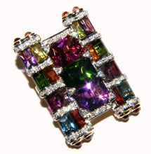 Bellarri 18K Calypso Collection Enhancer Pendant featuring Multi-Gemstones & Diamonds