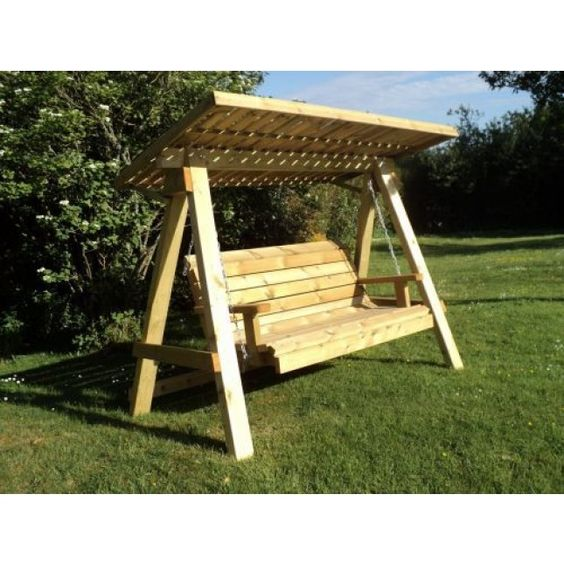 14 amazing redwood porch swing pic ideas porch swing for Small porch swing ideas