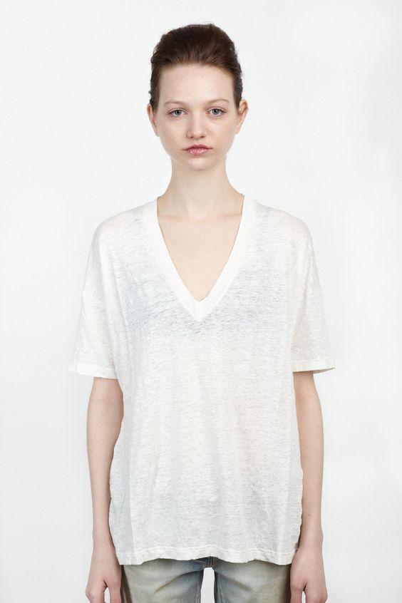 {Ma Ry Ya / 01 clothing / 04 knitwear / 01 t-shirt} V-Neck T-Shirt